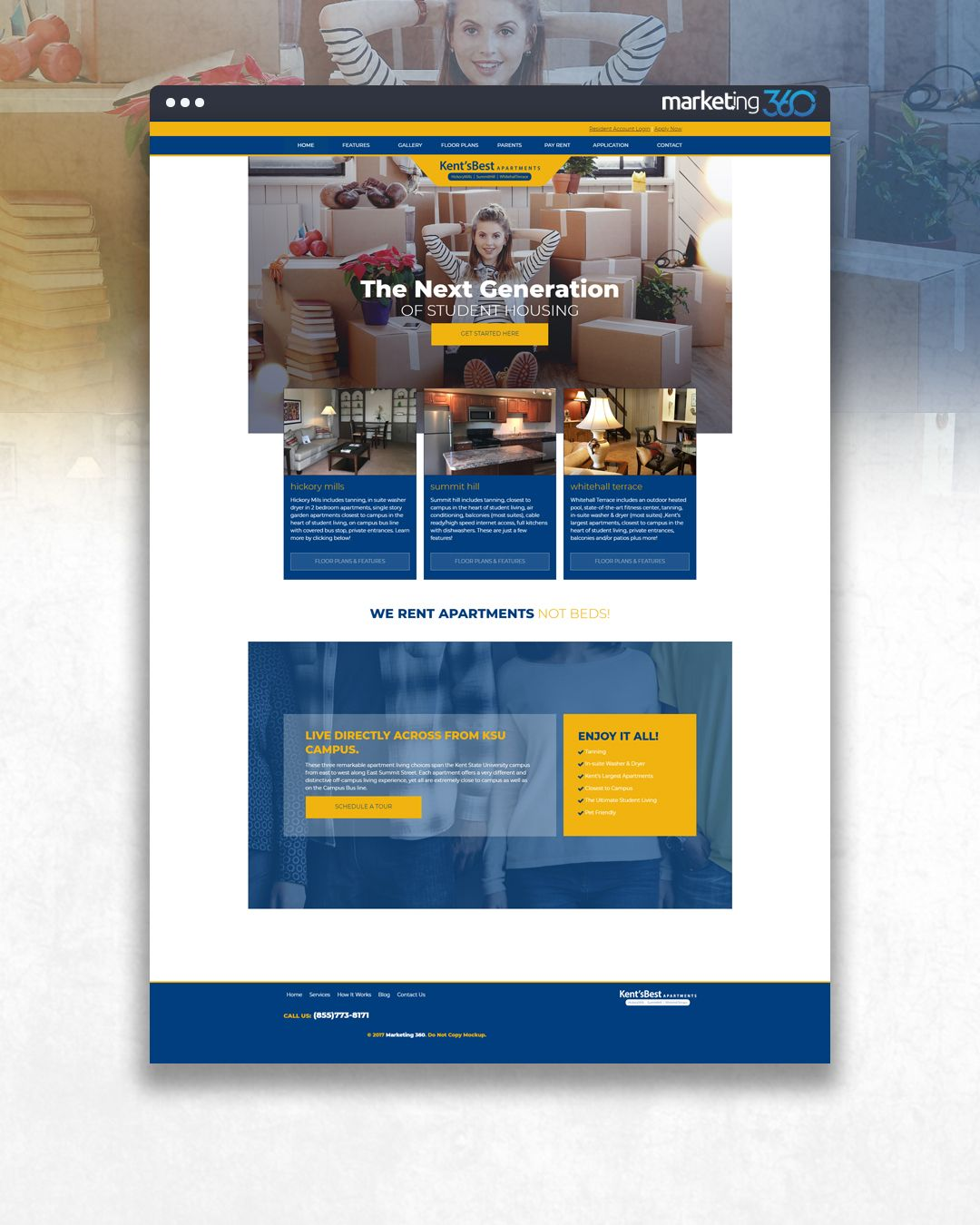 Design Of The Day Student Housing Website Design Concept By Our Talented Designer Pierre Johnson Online Web Design Website Design Design Online Store