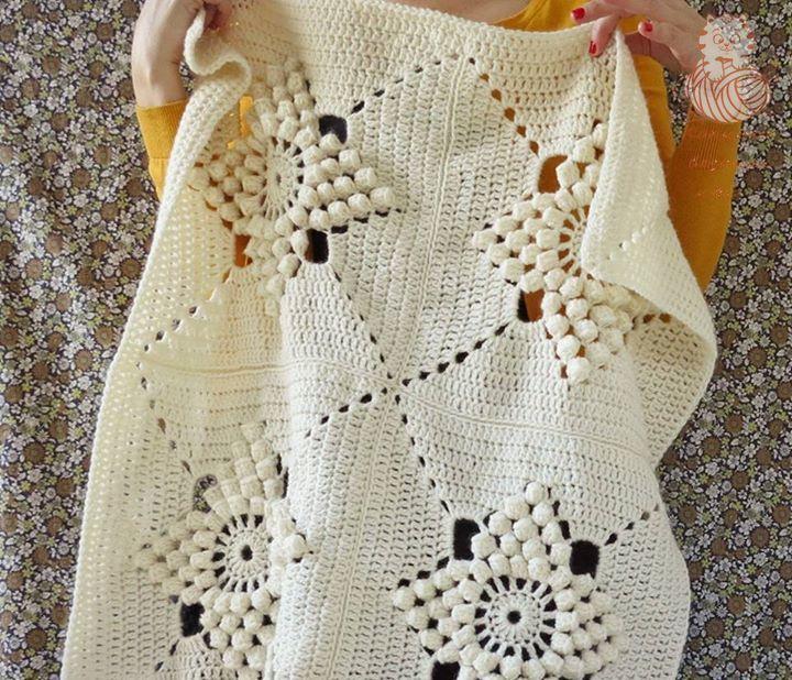 Popcorn Ripple Crochet Afghan Pattern Choice Image Knitting