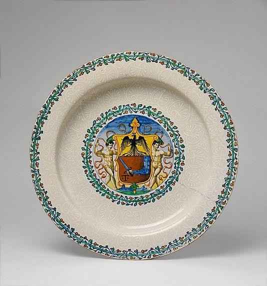 Dish Date Ca 1540 Culture Italian Castel Durante Or Pesaro Medium Maiolica Tin Enameled Earthenware Dimensions Ceramic Bowls Ceramic Pottery Ceramics