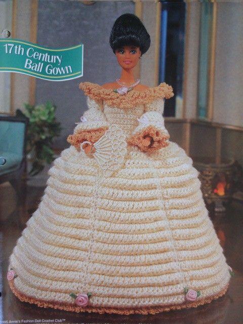 ball gown | barbie crochet retro\' | Pinterest | Barbie, Muñecas y ...