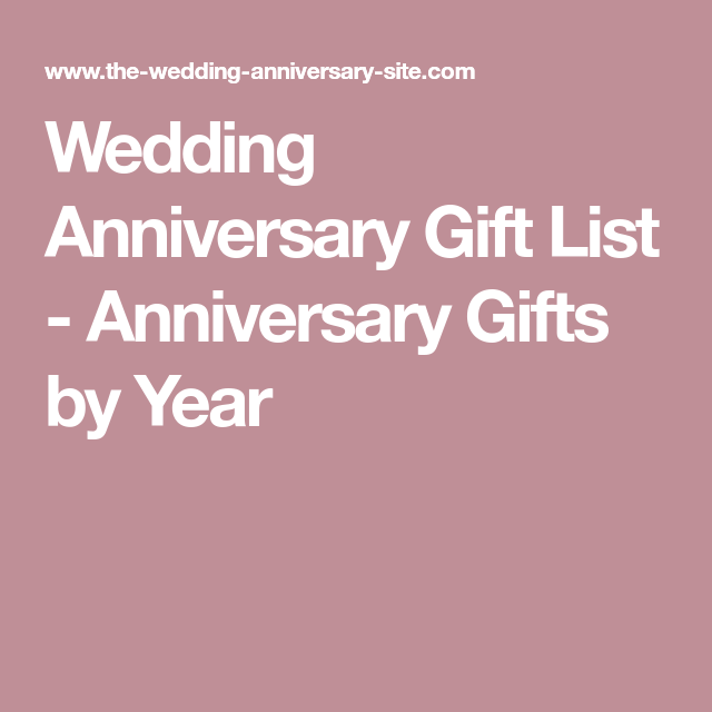 wedding anniversary gift list anniversary gifts by year