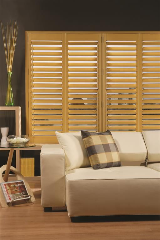 Bamboo Sliding Panel Track Blinds: Plantation Shutters Mounted Indoors, Plantation Shutters