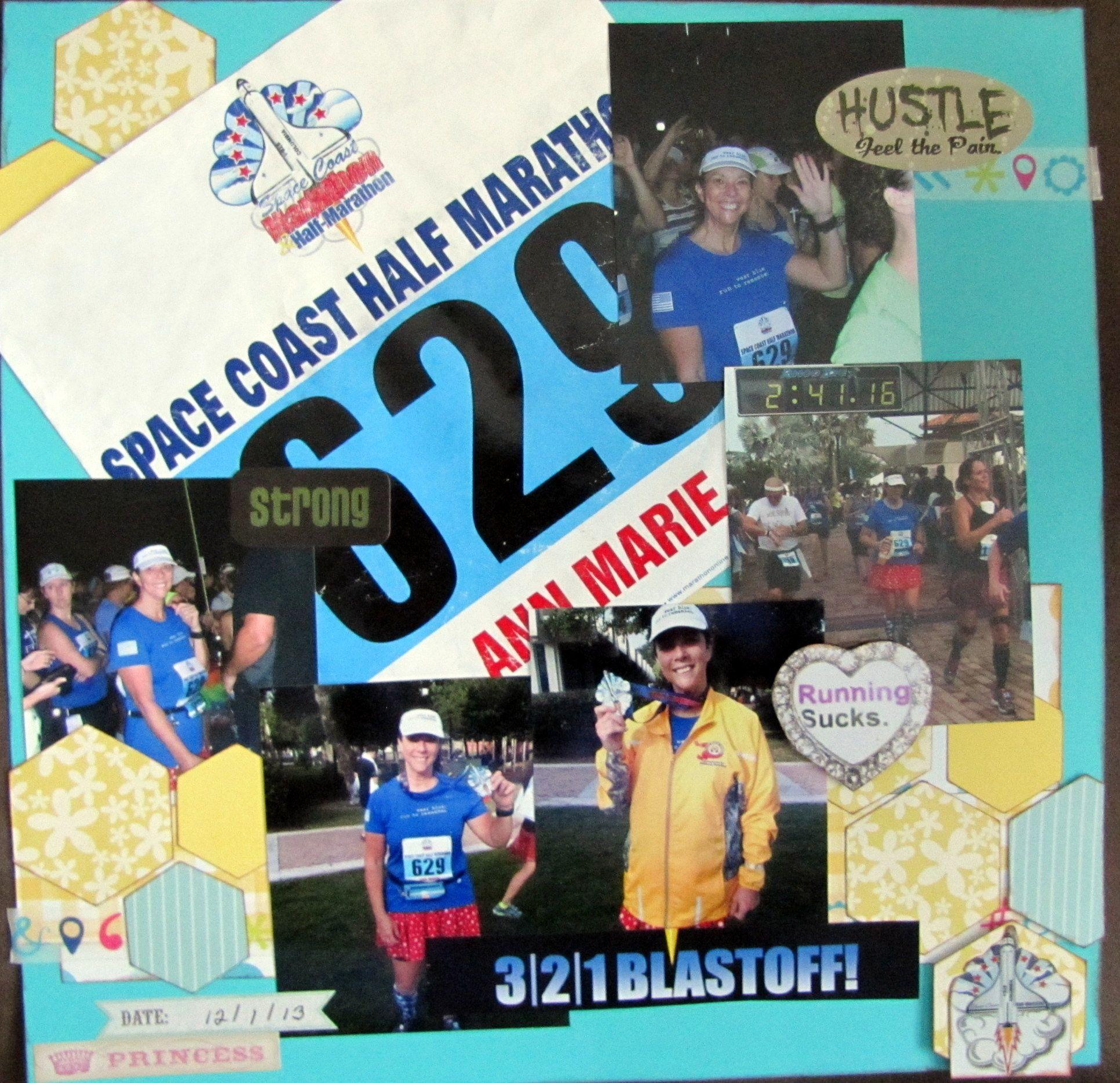 Running scrapbook ideas - Space Coast Half Marathon Scrapbook Com
