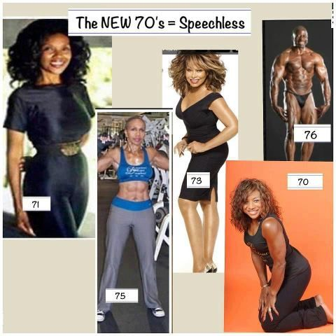 70 is the new ...45? Omg, how do they do that? I wanna look that young when I'm 70!