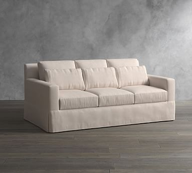 York Square Arm Deep Seat Slipcovered Sofa Sofa