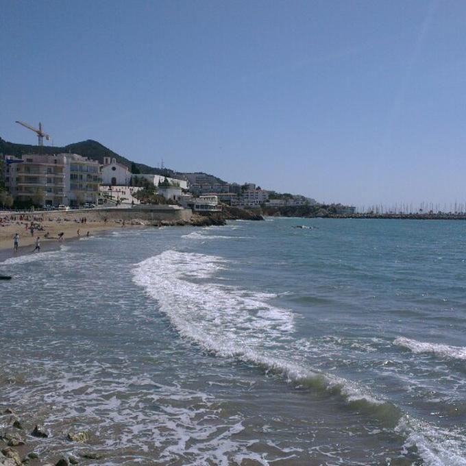 Platja de Sant Sebastià #Sitges