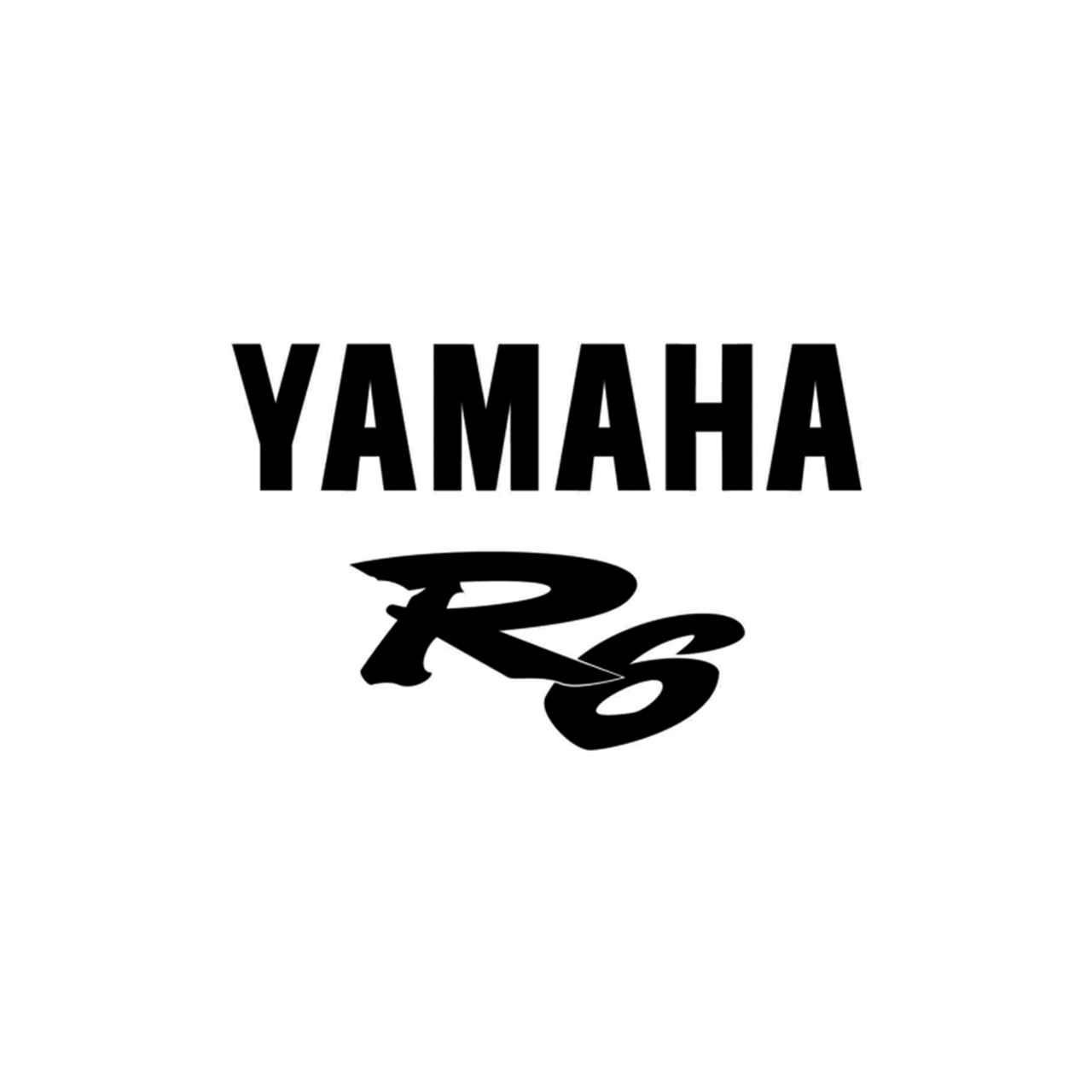 Yamaha R6 Logo Vinyl Decal Sticker