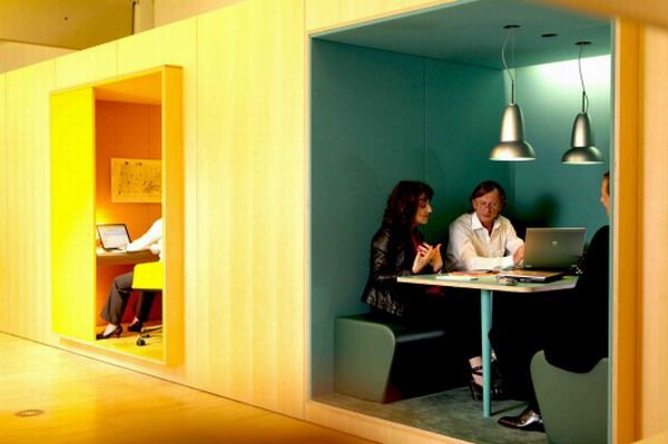 Innovative office design ideas | meeting pods - but you know they'd look better with a SpectreXT on the table