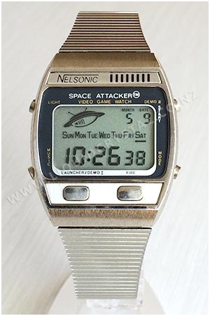 cf0be088bd4 Nelsonic Space Attacker Relógios Retrô