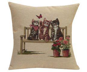 Cojín de algodón Playing Cats - 50x50