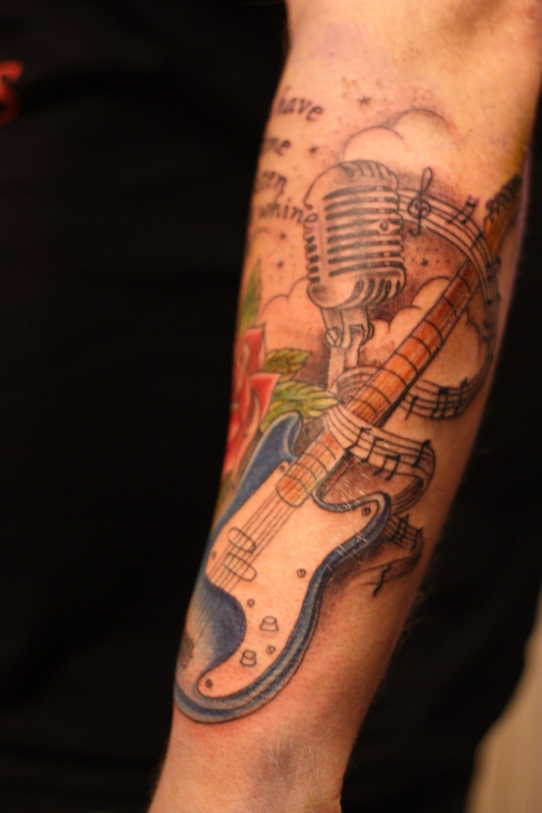 rockabilly guitar tattoo designs old school rose guitar rockabilly sleeve tattoo designs for. Black Bedroom Furniture Sets. Home Design Ideas