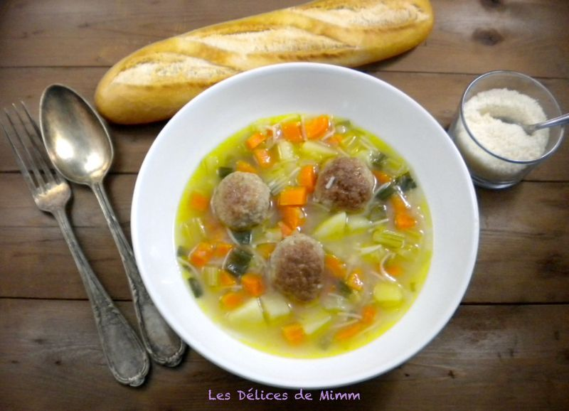 Photo of Parmesan meatball broth – Les Délices d …- Bouillon aux bou …