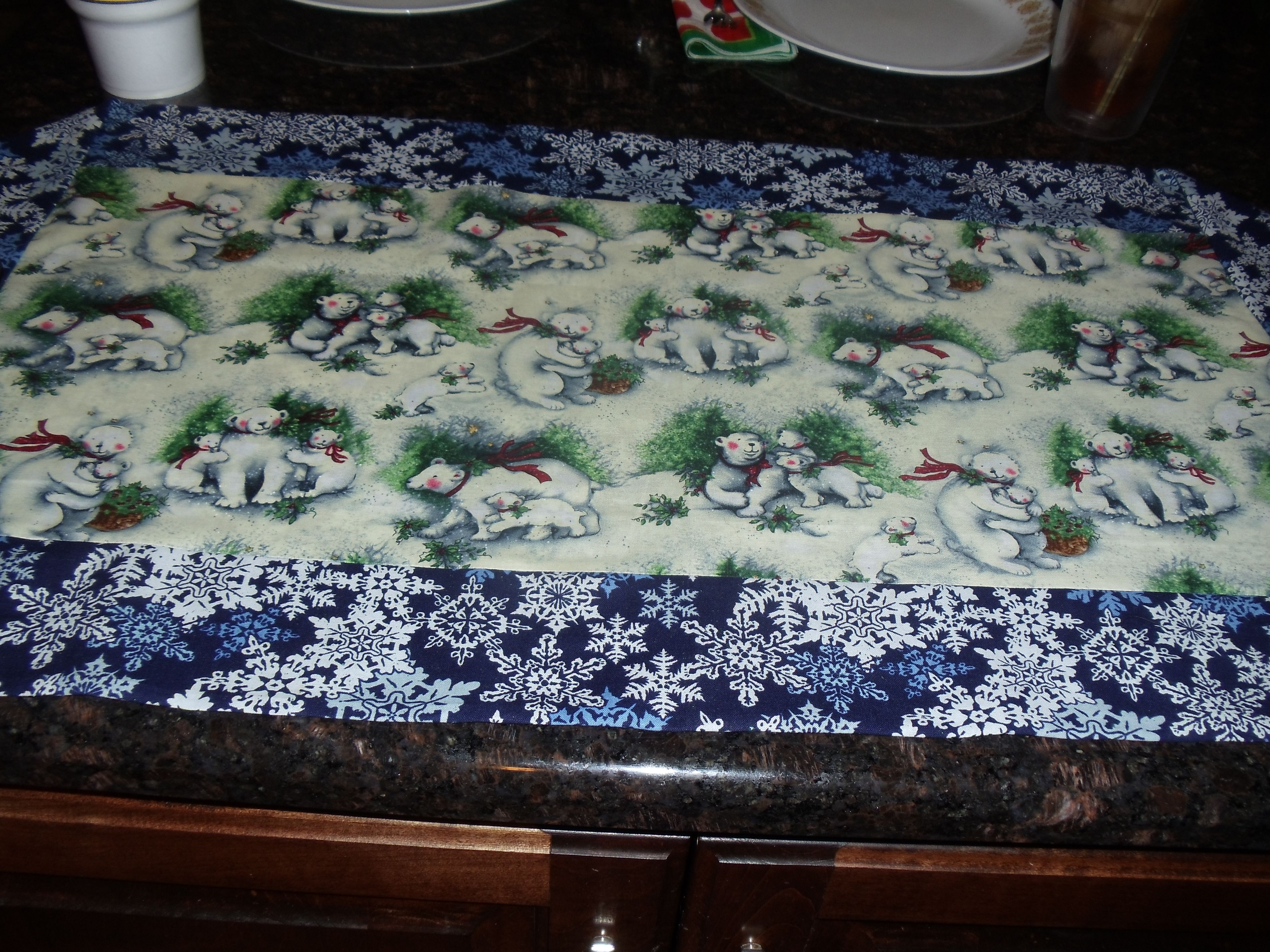 Winter 10 minute table runner my crafts pinterest for 10 minute table runner