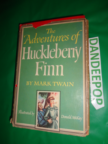 The Adventures of Huckleberry Finn Vintage Mark Twain 1948 Book find me at www.dandeepop.com