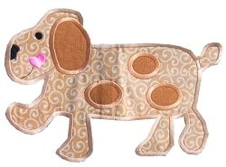 Dog Applique   Tags   Machine Embroidery Designs   SWAKembroidery.com Band to Bow