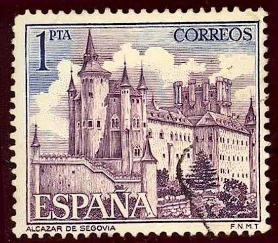 Alcazar de Segovia,  1 Peseta