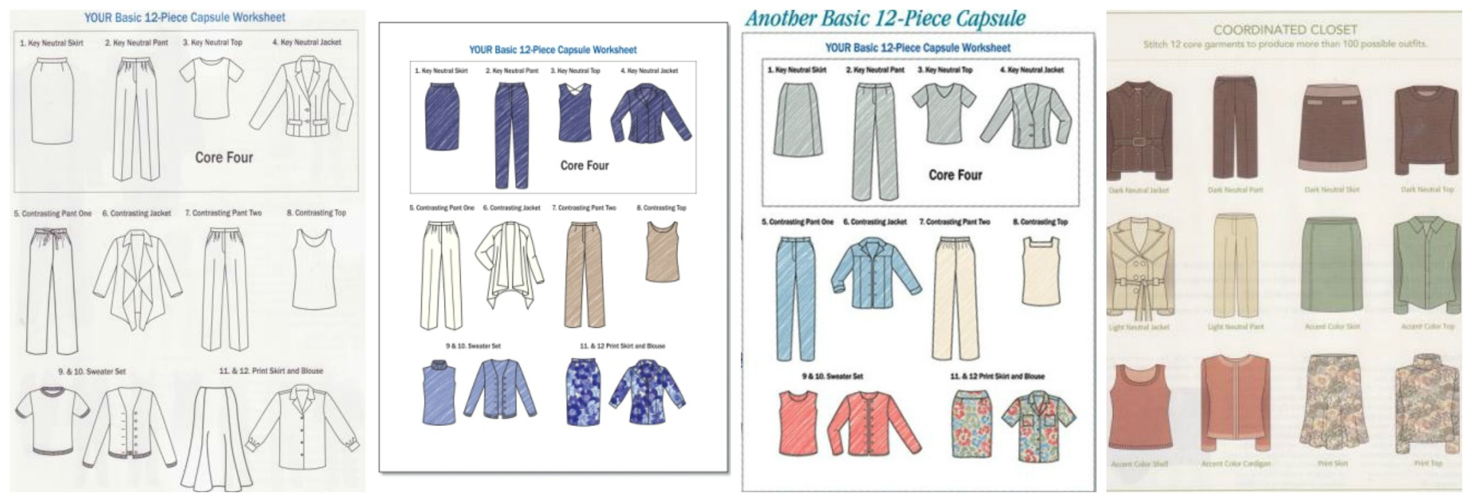 Components For Sewing Your 12 Piece Wardrobe