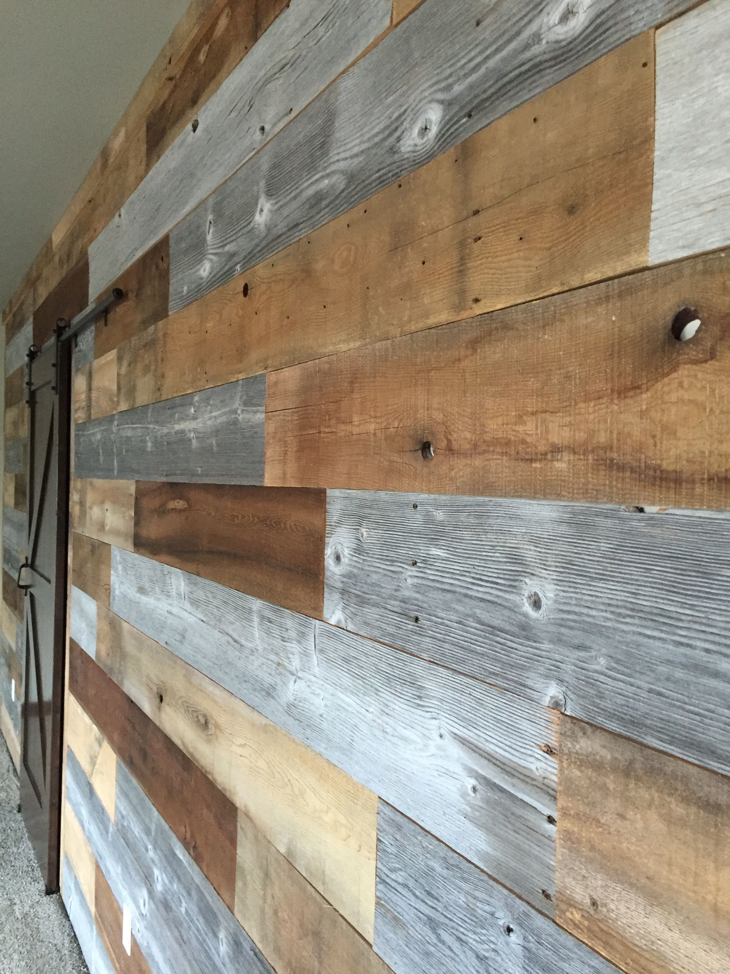 Multi Color Feature Wall Reclaimed Wood Beams Wood Reclaimed Wood