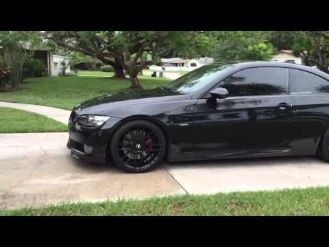 Bmw 335i Coupe E92 With Black 19 Rims Youtube With Images