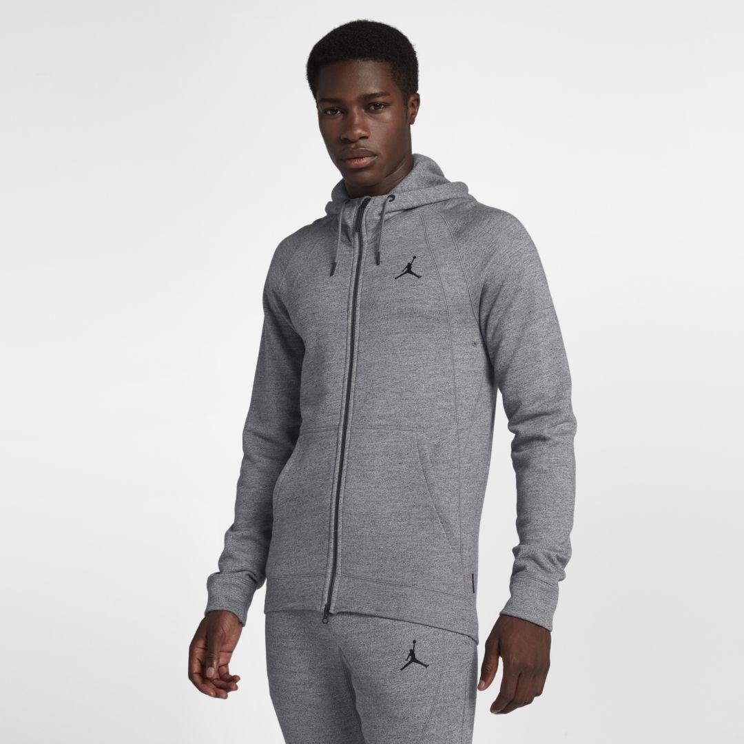 a402c4db3 Jordan Sportswear Wings Fleece Men s Full-Zip Hoodie Size 4XL (Carbon  Heather)