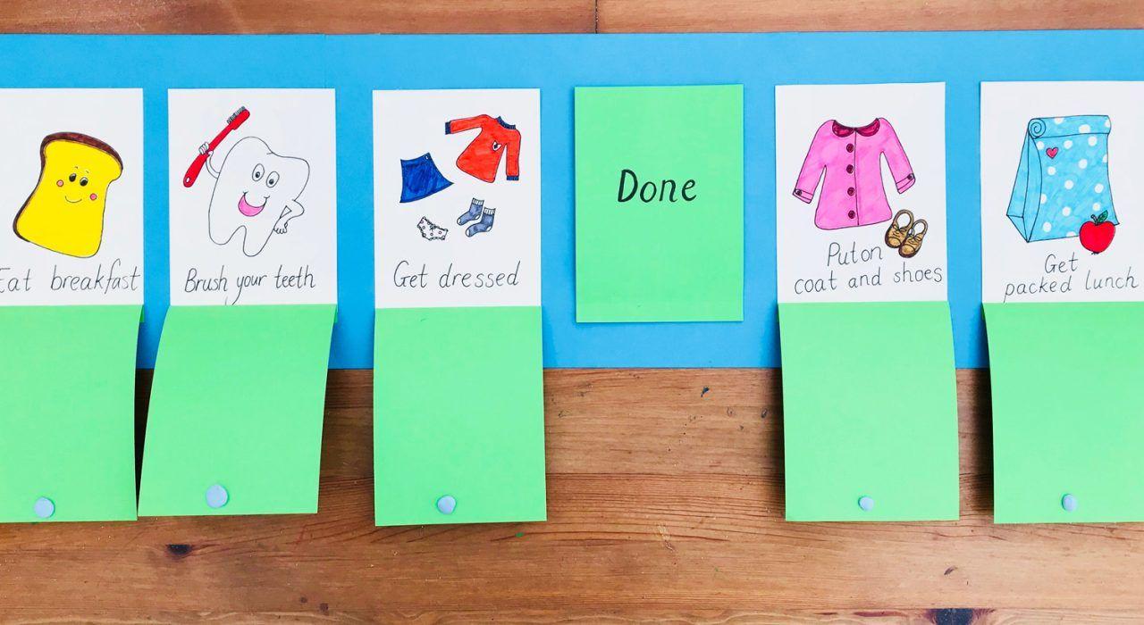Morning routine chart for kids   DIY Crafts   Mas & Pas #morningroutine