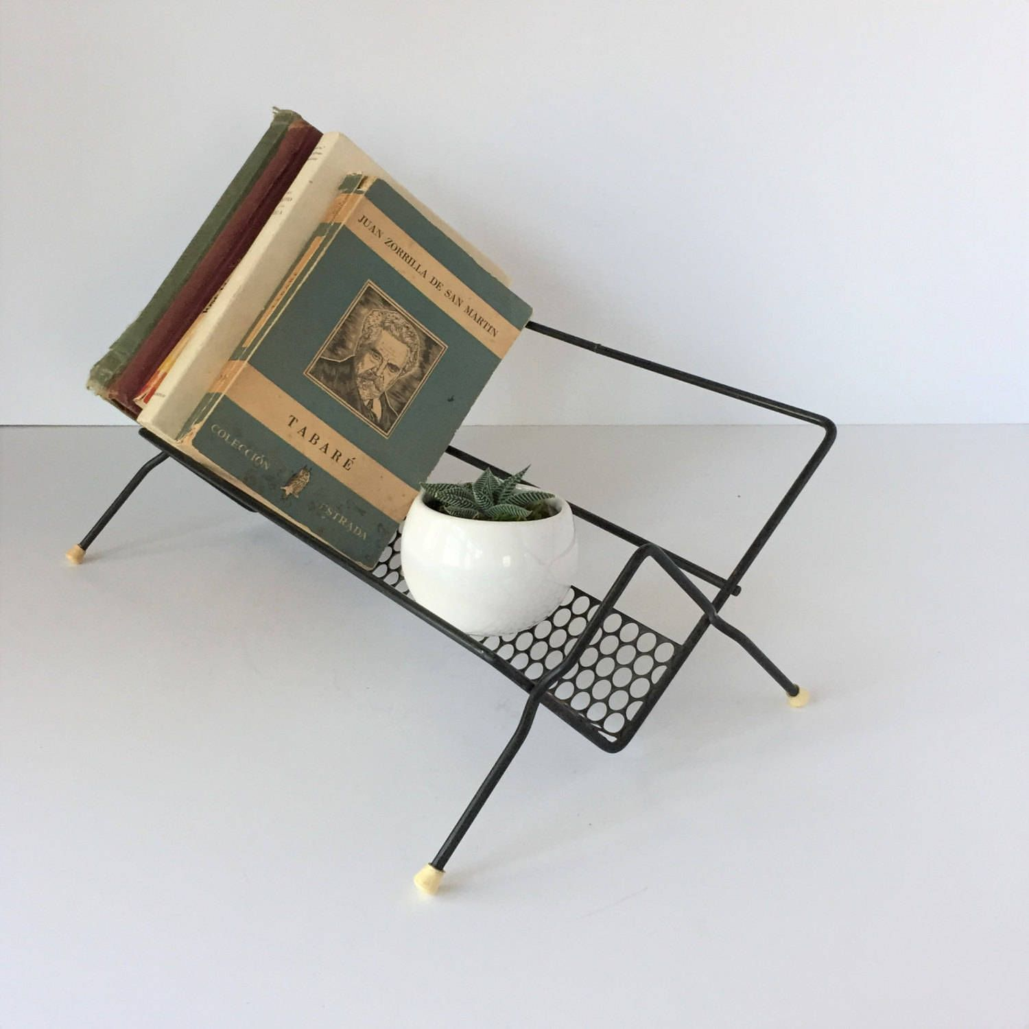 metal book rack midcentury book stand black wire book rack wire