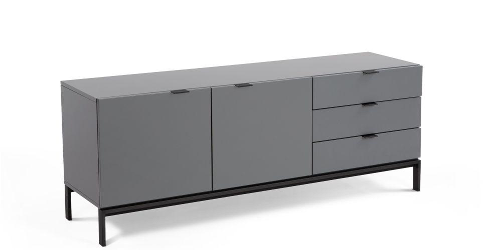 Marcell Sideboard Grey Made Com Mdf Aparador Retro