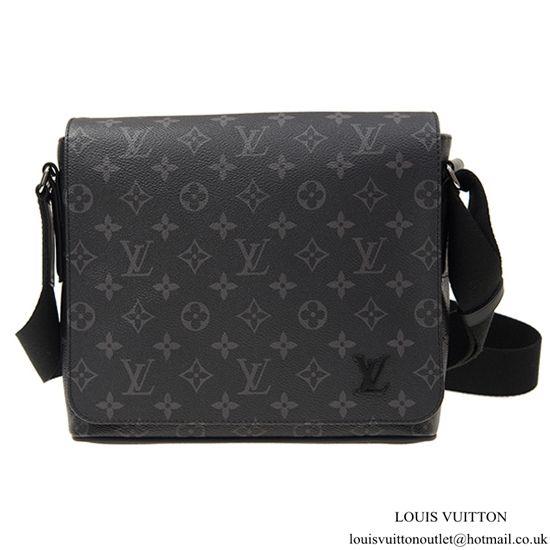 53beb99bb9fa Louis Vuitton M44000 District PM Messenger Bag Monogram Eclipse Canvas