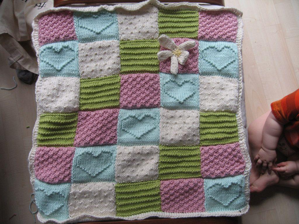 Heart Baby Blanket Knitting Pattern | A Knitting Blog | Baby ...