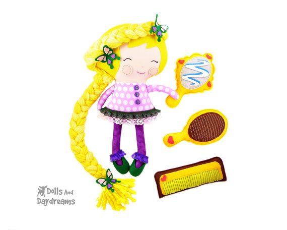 Rapunzel Princess Doll Sewing Pattern PDF Cloth von ...