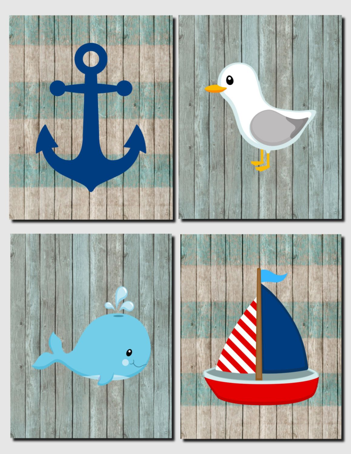 kids whale bathroom decor nautical nursery decor whale seagull anchor sailboat 19000