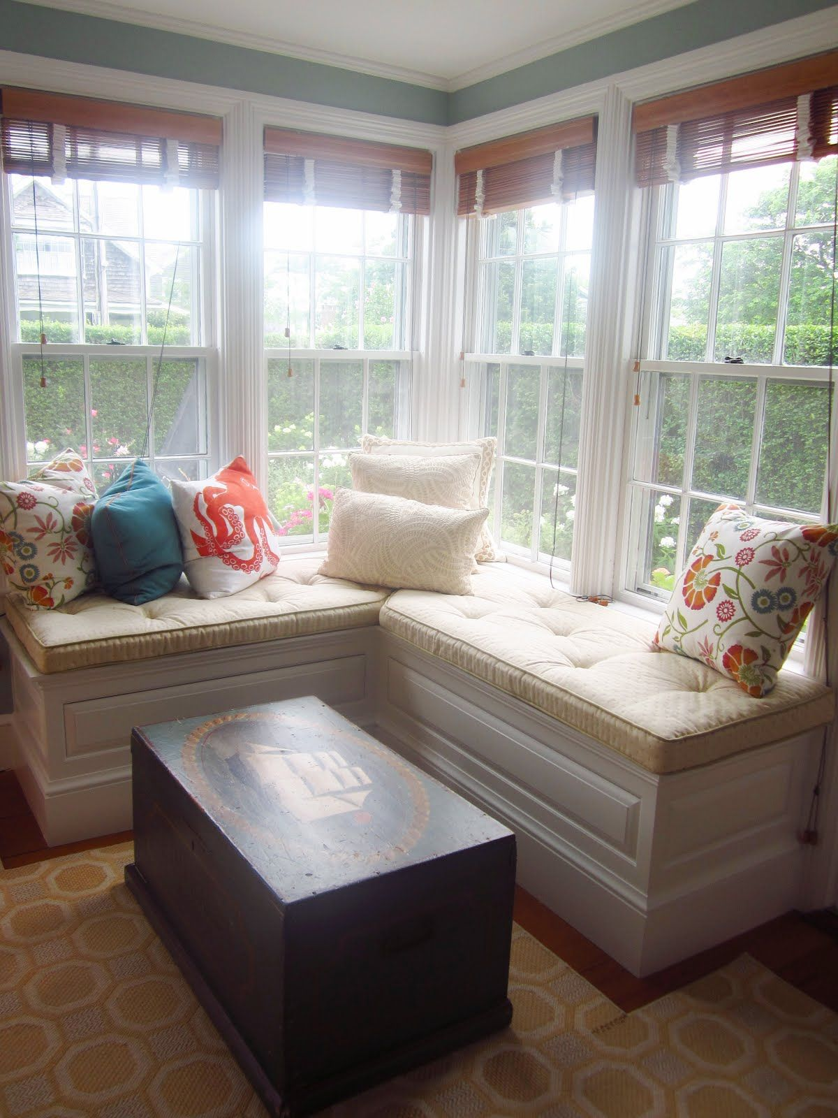 ISLAND PREPPY LIVING ROOM. Corner Window SeatsCorner Bench ... Part 49