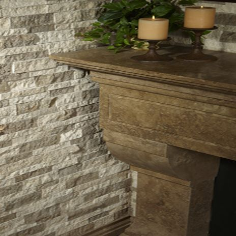 IvoryNoce Split Stack Travertine from AZ Tile is perfect for the