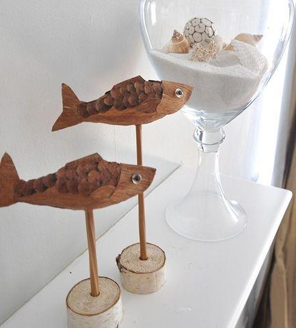whimsical pinecone fish