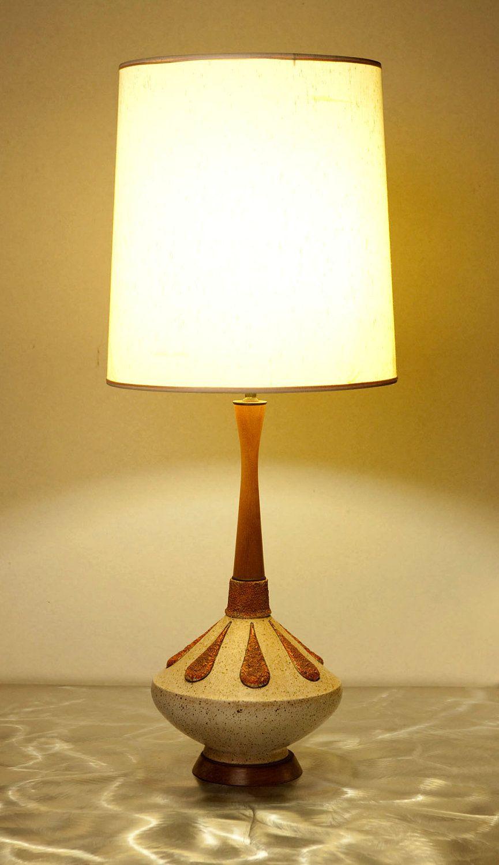 Stunning Mid Century Modern Genie Bottle Table Lamp Mid Century
