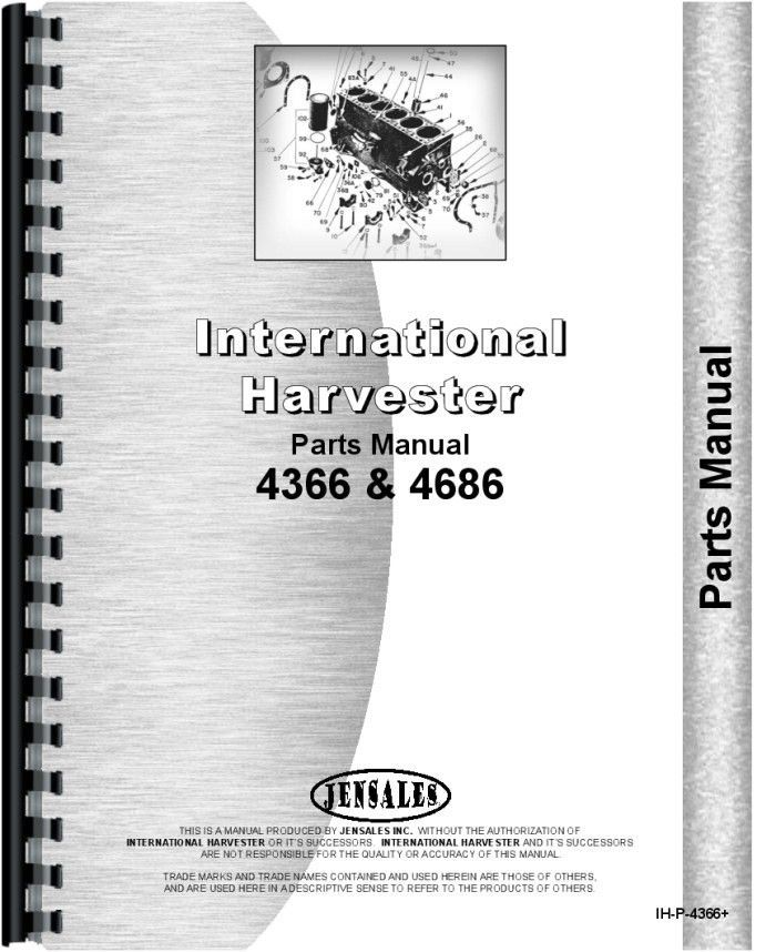 International Harvester 4366 Tractor Parts Manual