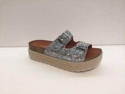 Sanabella - Janssen shoes - schoenen Brugge #shoes #schoenen #brugge #quality #summer #spring #ss17 #silver #slipper
