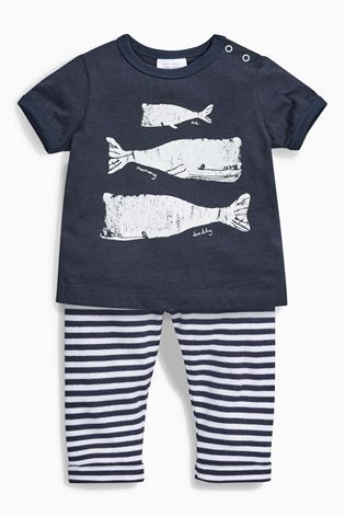 BABY BOYS/' WHALE TWO PIECE OUTFIT SET T-SHIRT /& SHORTS