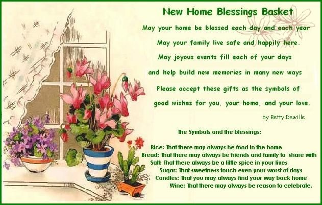 New home blessings basket pinterest rice bread blessings and poem new home blessings basket with printable poem and what to put in the basket and why rice bread salt sugar candles wine along with other ideas to m4hsunfo