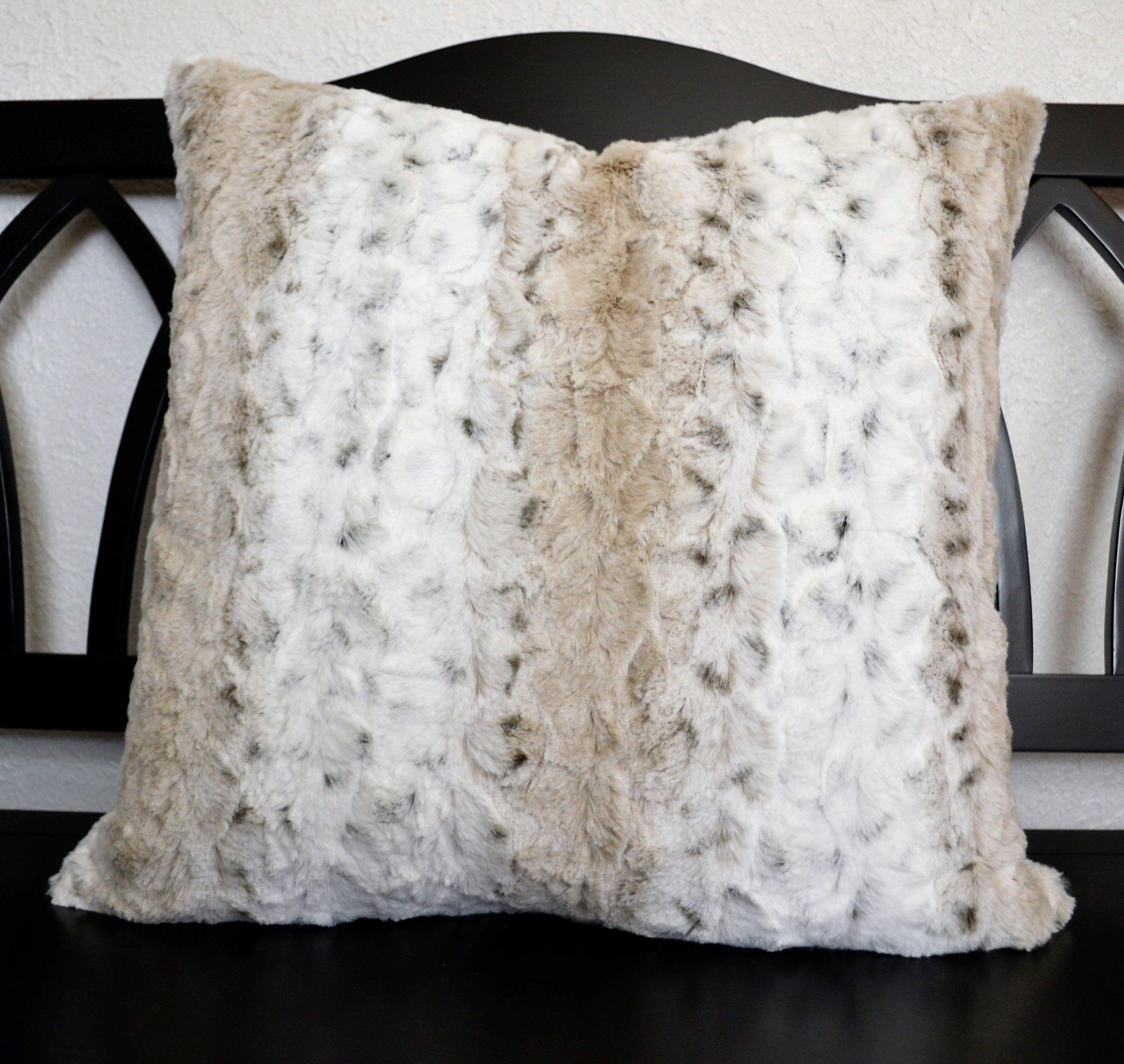 Lumbar Pillow, Minky Pillow, Dark