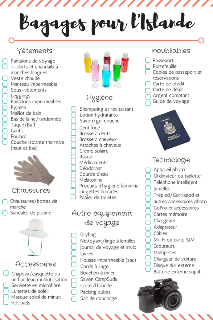 packing list   quoi mettre dans les bagages pour l u0026 39 islande