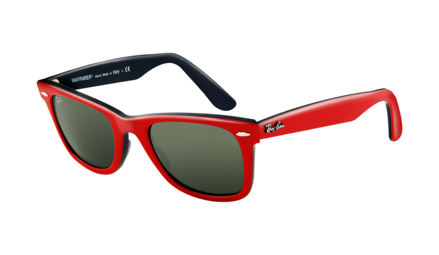 bef89621c590e Ray Ban RB2140 Wayfarer Sunglasses Top Red Frame Crystal Green L   Rayban019  -  16.20   ray ban glasses aviator
