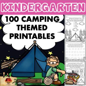 100 Kindergarten Camping Theme No Prep Language, Reading, Writing ...