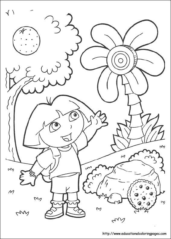 Dora The Explorer Coloring Pages 71