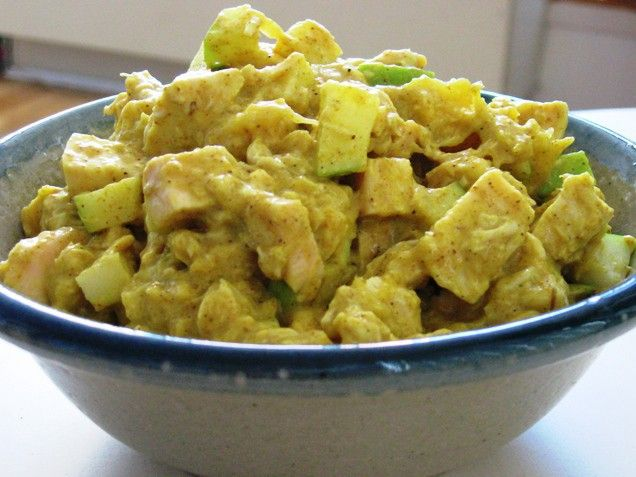 Curried Chicken Salad with Mango