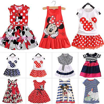 Girls Dress Disney Summer Sundress Minnie Mouse Skater 9 Months to 7 Years