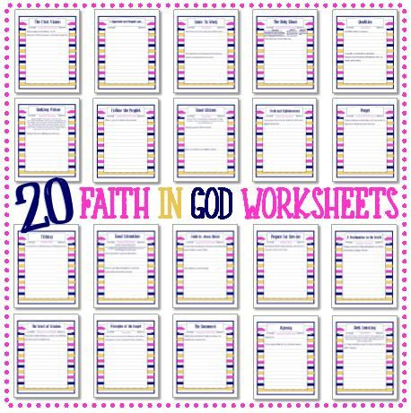 Worksheet Faith Worksheets faith in god 20 worksheets instant download activity day download