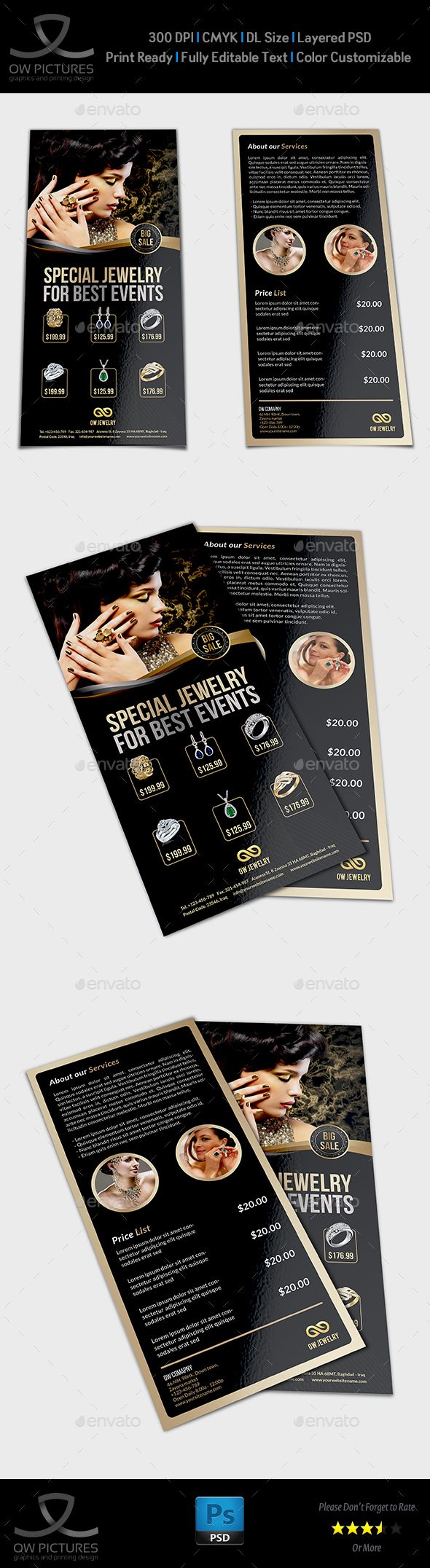 Jewelry Flyer Templates Dl Size Vol2 Flyer Template Template And
