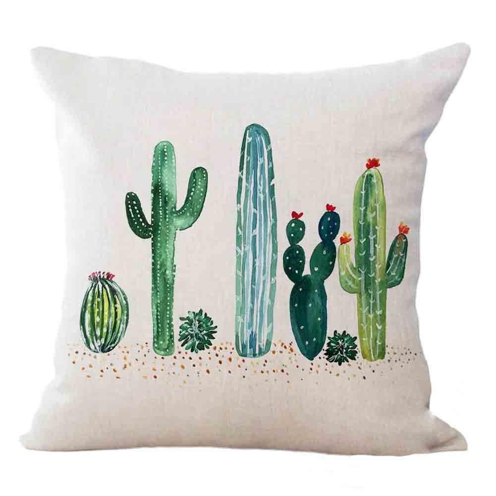 Qinqingo Cactus Pillow Case Ad Cactus Cactusparty Cacti Cactusaddicted Succulent Decorative Cushion Covers Throw Pillows Decorative Throw Pillows
