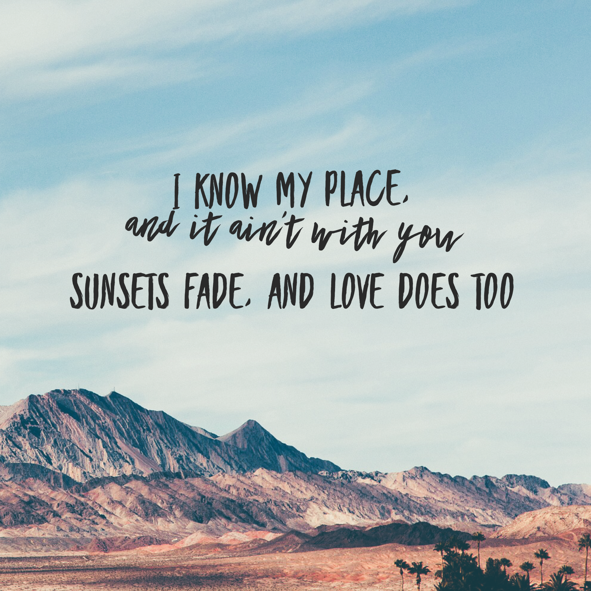 Sunsets Fade, And Love Does Too (Kacey Musgraves/ Space